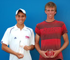 2008 Boys winner, Dane Propoggia and Runner Up, Nat Maraga holding their trophies