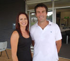 Principal Officer (Programs and Partnerships) of the Ipswich City Council, Jodie Welsh and Pat Cash at the Gallipoli Youth Cup 2010 launch