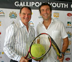 Mayor of Ipswich & Pat Cash at the Gallipoli Youth Cup 2010 launch