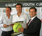 Mayor of Ipswich, Paul Pisasale, Pat Cash & Turgut Allahmanli launches Gallipoli Youth Cup