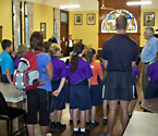 Bay View State School students at the Ipswich Sub Branch RSL