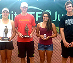 L to R: Ipswich Sub Branch RSL Representative - Keith Fraser, Girls Winner - Ellen Perez, Boys Winner - Harry Bourchier, Girls Runner Up - Isabelle Wallace and Boys Runner Up - Bradley Mousley