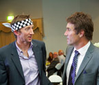 Pat Cash and the prize draw winner