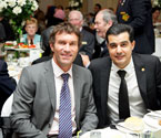 Mr. Pat Cash (Ambassador of Gallipoli Youth Cup) and Mr. Umit Oraloglu (Founder of Gallipoli Youth Cup)