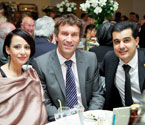 Songul Demirci, Mr. Pat Cash (Ambassador of Gallipoli Youth Cup) and Mr. Umit Oraloglu (Founder of Gallipoli Youth Cup)