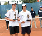 Gallipoli Youth Cup boys' Doubles Winners, Yuya Ito from Japan and Kurtis Wilson