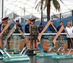 Sands of Gallipoli figurine Trophies and Crystal Trophies for the Singles Winners and Runner Up of the Gallipoli Youth Cup