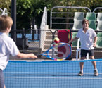Students participating in a range of tennis activities (Photo: Elizabeth Xue-Bai)
