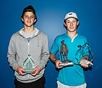 (L to R) Boys Runner Up, Damon Kesaris and Boys Winner Daniel Nolan holding their trophies (Photo: Elizabeth Xue-Bai)