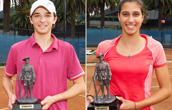 Matthew Romios (L) and Jaimee Fourlis were champions at the 2016 Gallipoli Youth Cup at Melbourne Park (Photo: Elizabeth Xue-Bai)